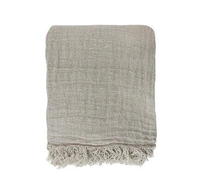 sobrecama de tela de lino lavado
