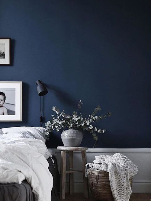 Tonos de color azul para pintar las paredes de los dormitorios