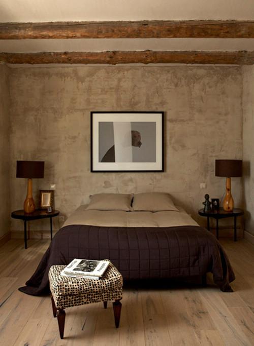 Color beige para decorar las paredes y el techo