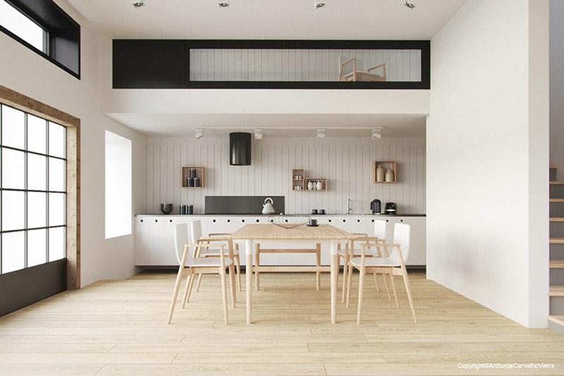 comedor cocina de diseño minimalista