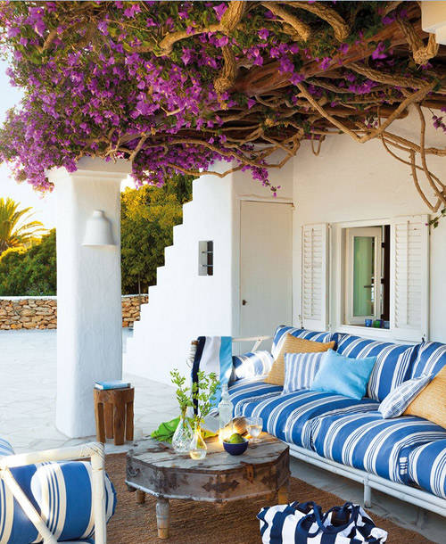 Decorar la terraza con un estilo mediterráneo