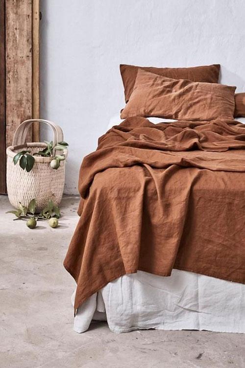tonos de tierra para la ropa de la cama