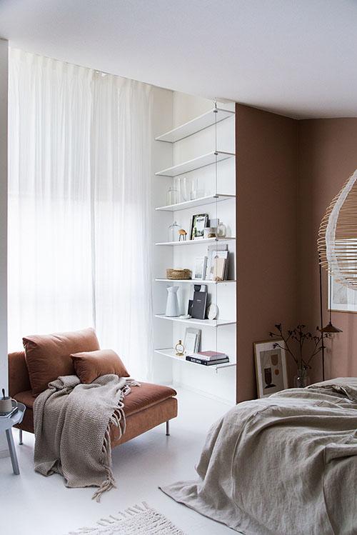 Colores tierra en la decoración de dormitorios