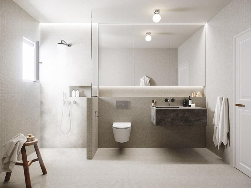 colores neutros para decorar baños