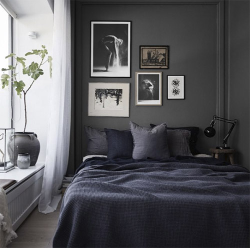 Colores oscuros para pintar las paredes en las habitaciones pequeñas