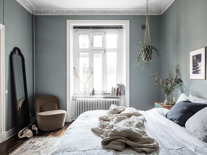 tonos verdes en las habitaciones pequeñas