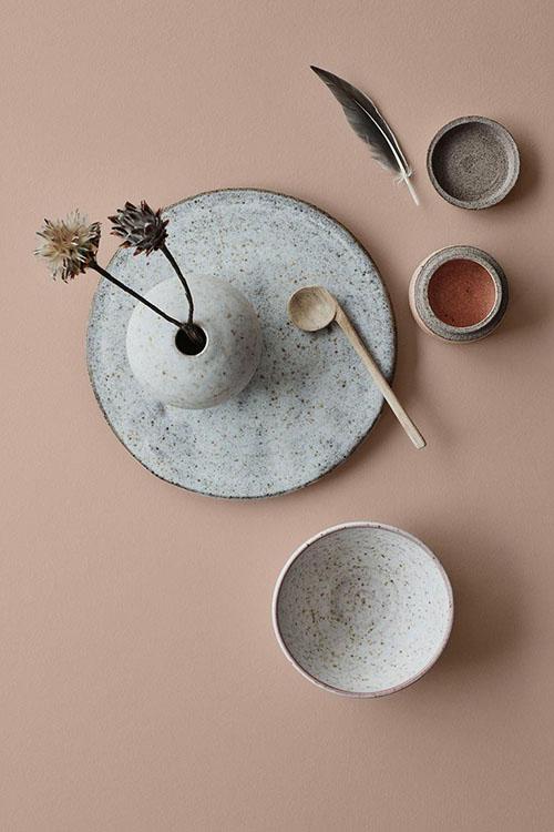 Combinación de cerámica y colores crema