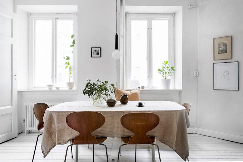 El lino como acento decorativo en las casas nórdicas