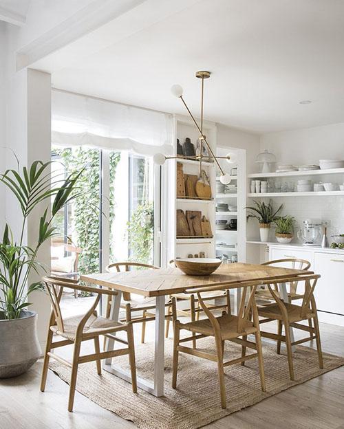 lámparas colgantes del techo para decorar una cocina comedor