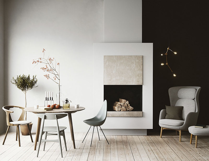 cómo decora un salón comedor de diseño y estilo minimalista
