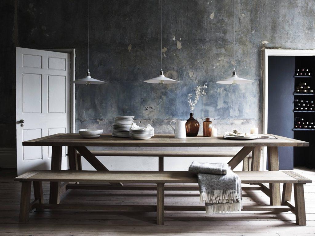 comedores de estilo rustico minimalista