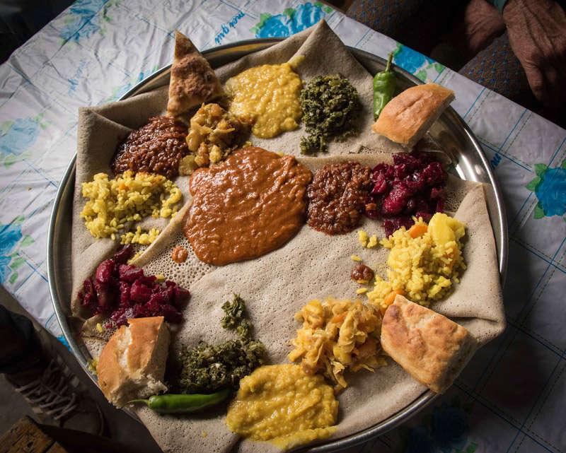 la comida en Etiopía