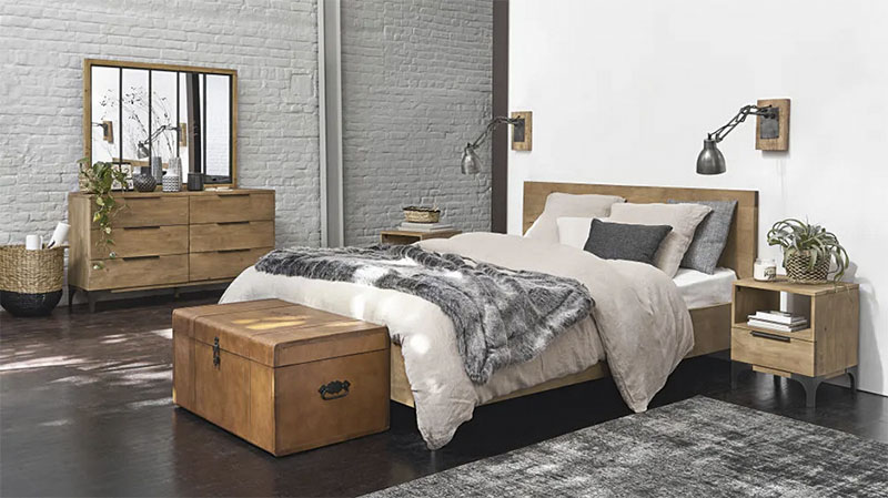 cómoda de dormitorio de madera