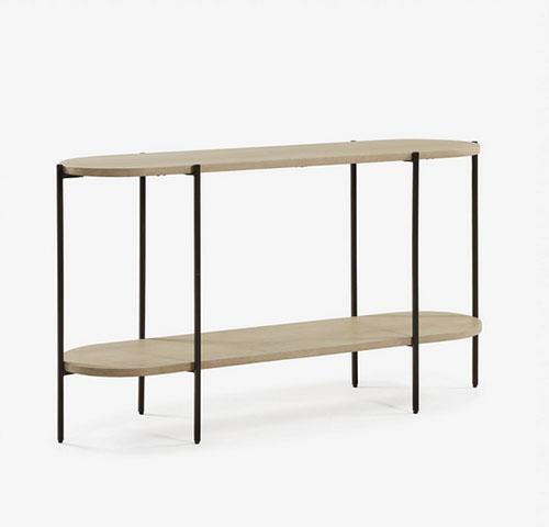consola de madera y metal