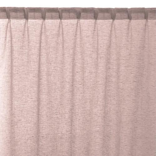 cortina de color rosa palo