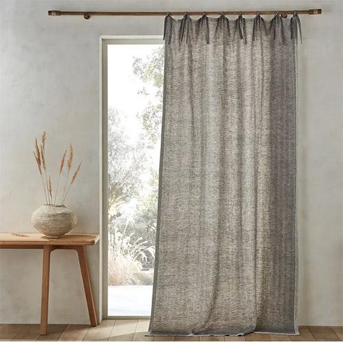 cortinas de lino natural para decorar la casa