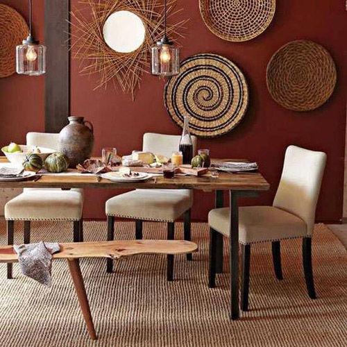 tonos tierra para una decoración de estilo africano