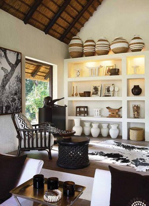 espacios de inspiración africana