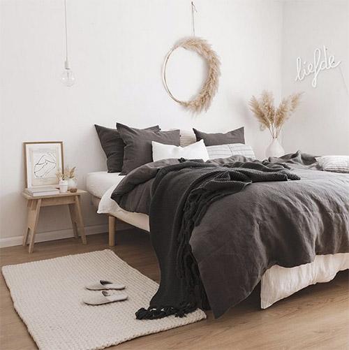 Cálidos textiles en las habitaciones escandinavas