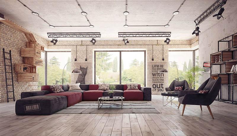 cómo decorar un loft industrial