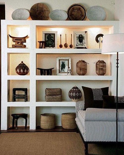 decoración de interiores con cestas de áfrica