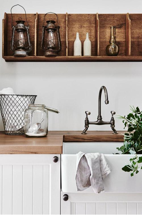Decoración de una cocina rústica