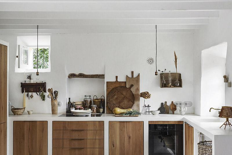 cocina de estilo rústico mediterráneo