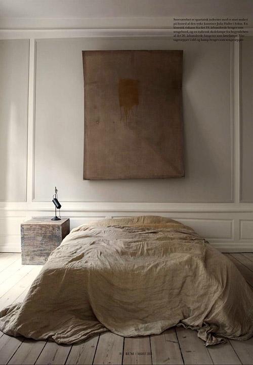 Decoración de un dormitorio de estilo wabi sabi