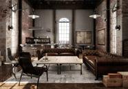 decoración de interiores de estilo industrial