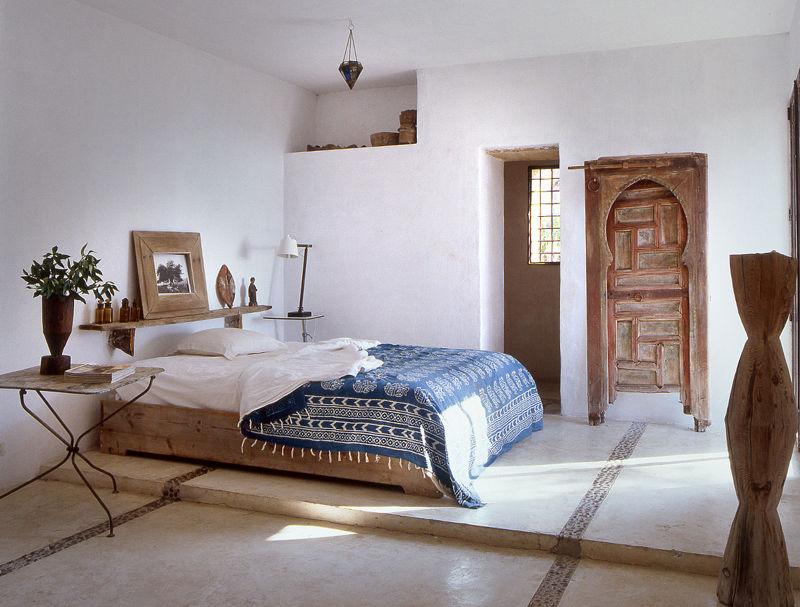 dormitorio de una masía en ibiza