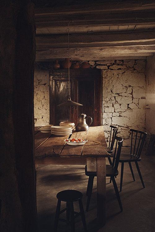 Comedor en una casa rural