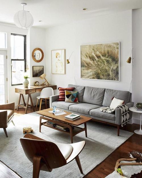 muebles vintage de estilo mid century para la decoración de casa