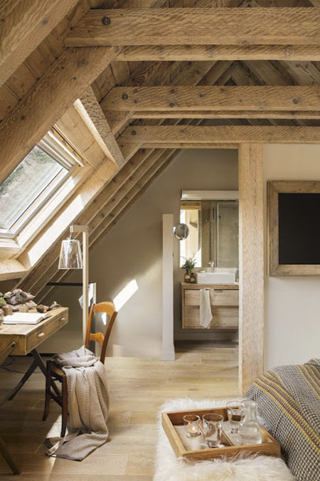 cómo decorar un dormitorio de estilo rústico