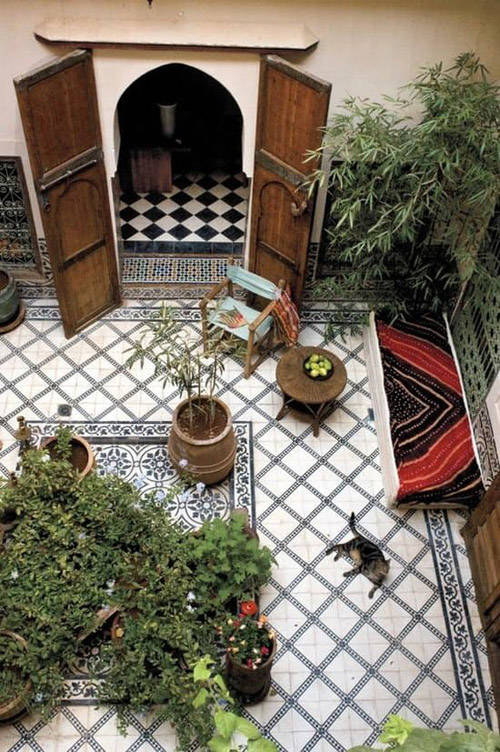 Patio en un riad de Marracesch
