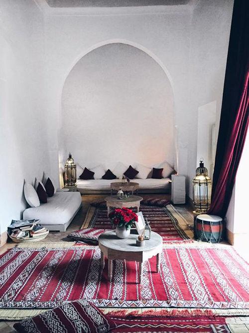 Interior marroquí en un un riad