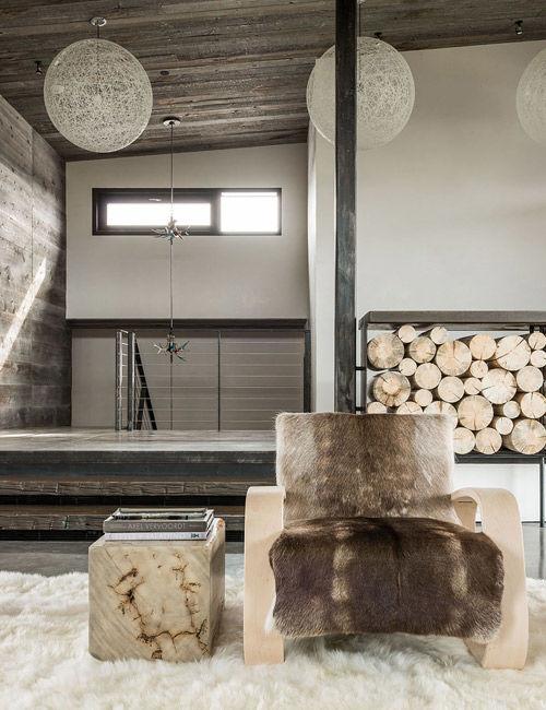 Salón con una decoración de estilo nórdico