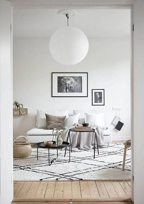 Confort y luminosidad en los salones de estilo nórdico
