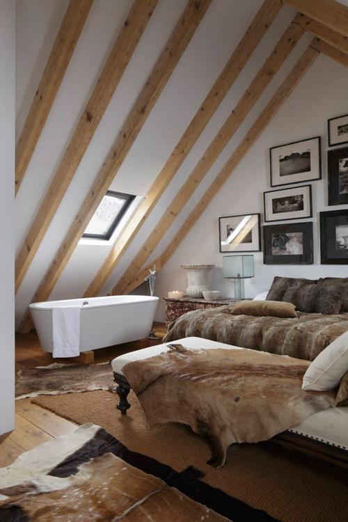 Casa de campo con una decoración rústica