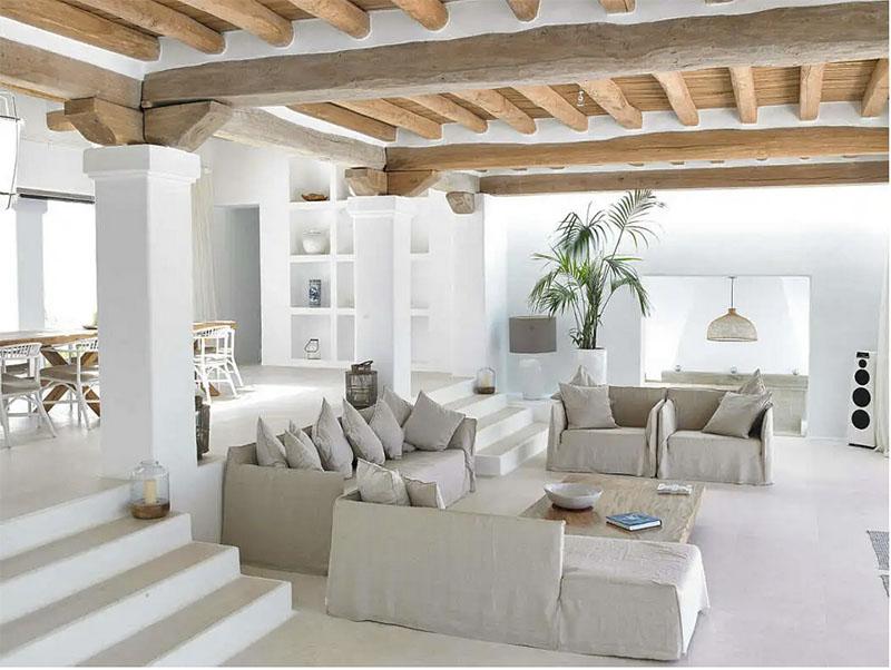 decoración interior mediterránea
