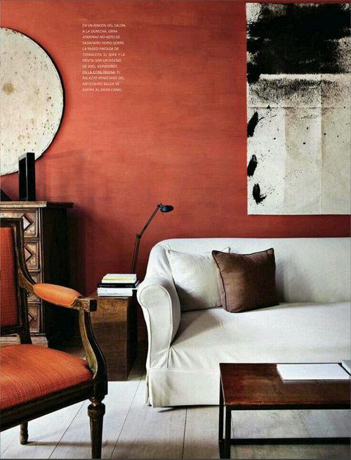 Colores tierra en la decoración de interiores
