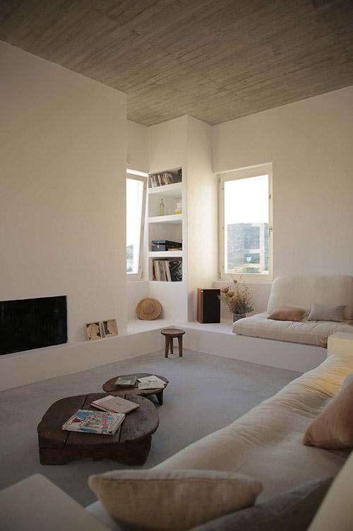 Salón de una casa en Grecia