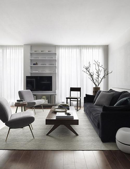 colores neutros en la decoración de salones modernos