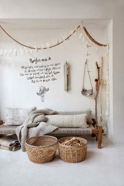 Cestas y canastos de mimbre y ratan para decorar