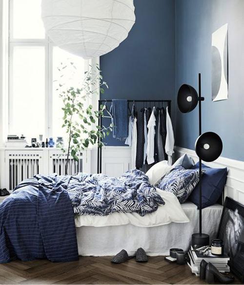 El color azul en la decoración de apartamentos