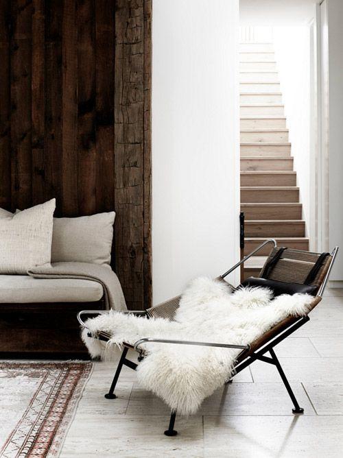 Muebles de diseño en los interiores minimalistas