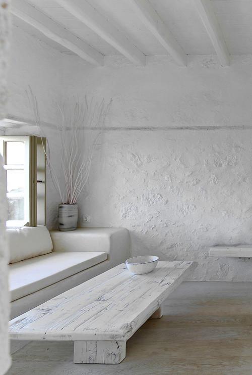 Paredes blancas para una clásica casa griega