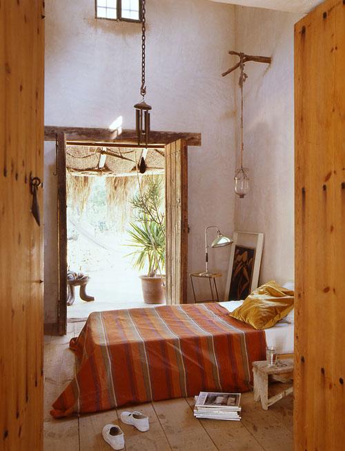dormitorio de una casa en formentera