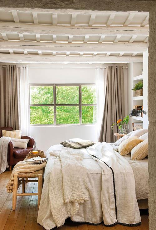 ideas para la decoración de dormitorios rústicos