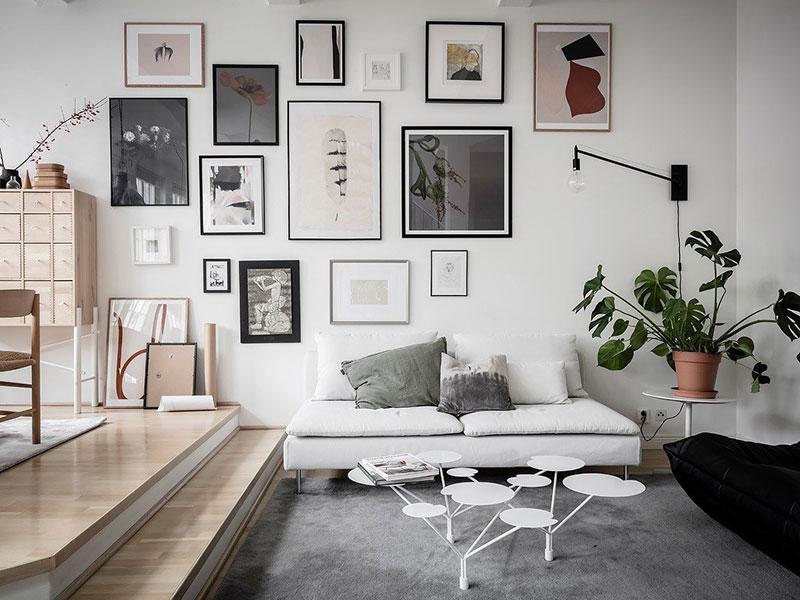 Decoración de paredes de salones pequeños