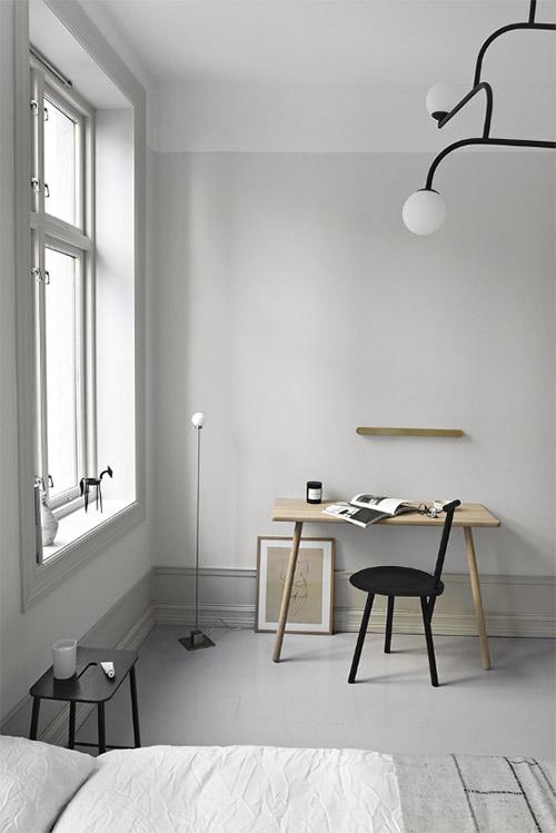 Escritorio de madera de diseño escandinavo
